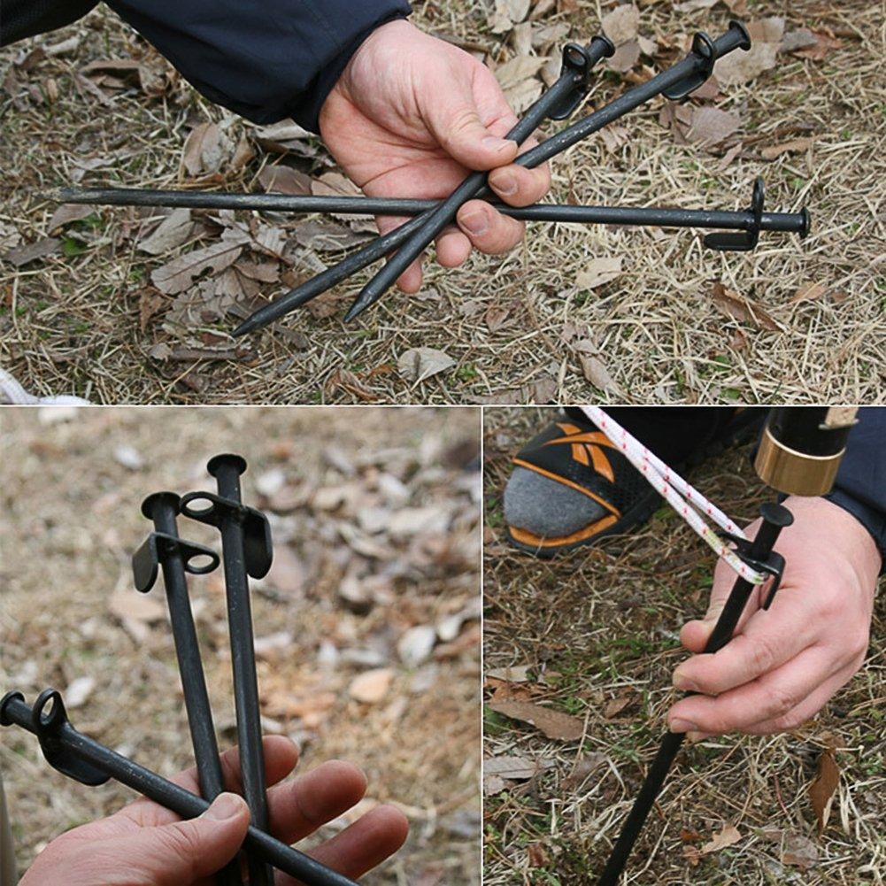 caravaning /équipement de camping lennonsi Lot de 4/piquets Camping 30/cm plage tente Piquet /à ongles portable gras pour lext/érieur