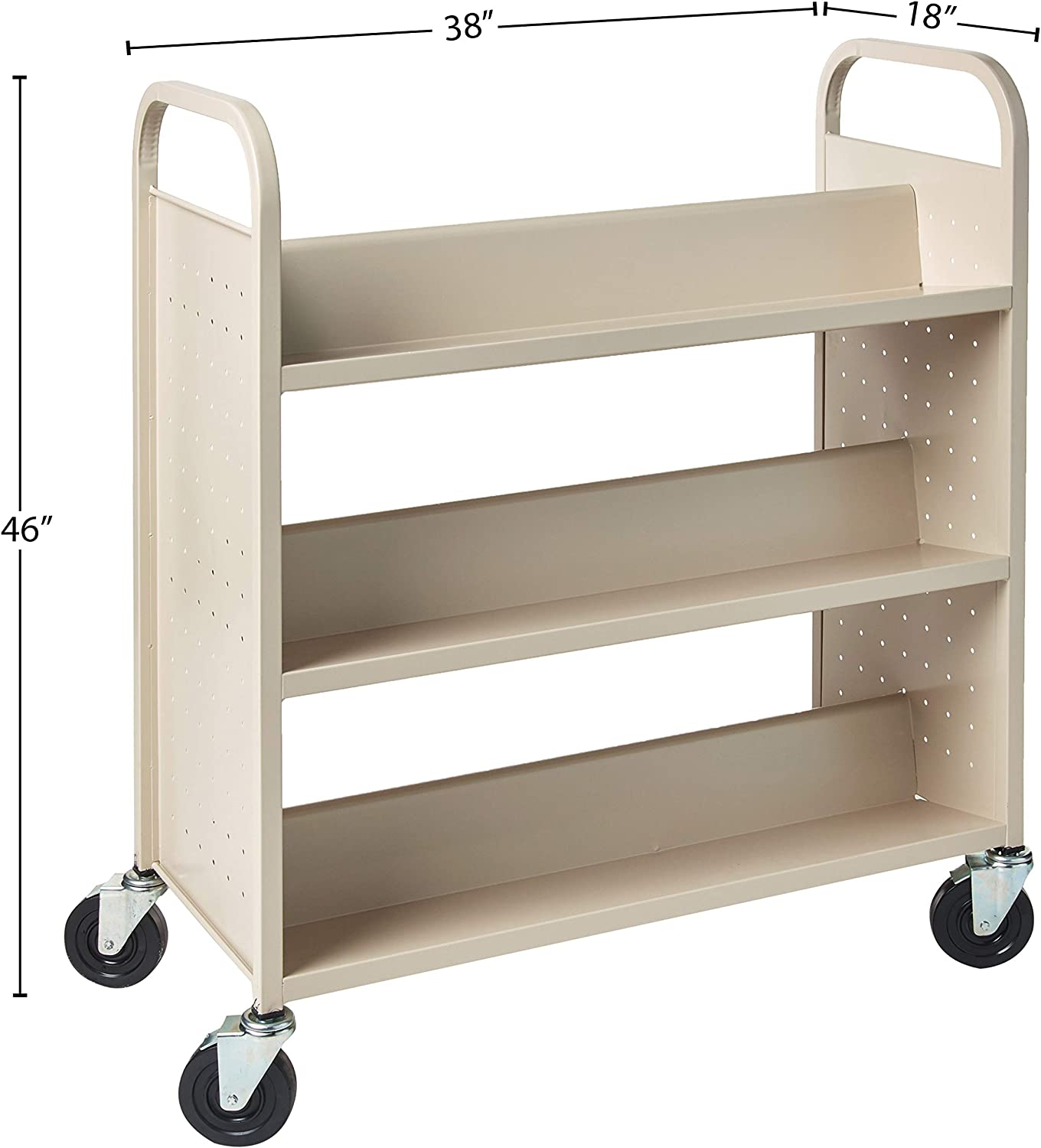 Lorell Double Sided Book Cart Furniture Decor