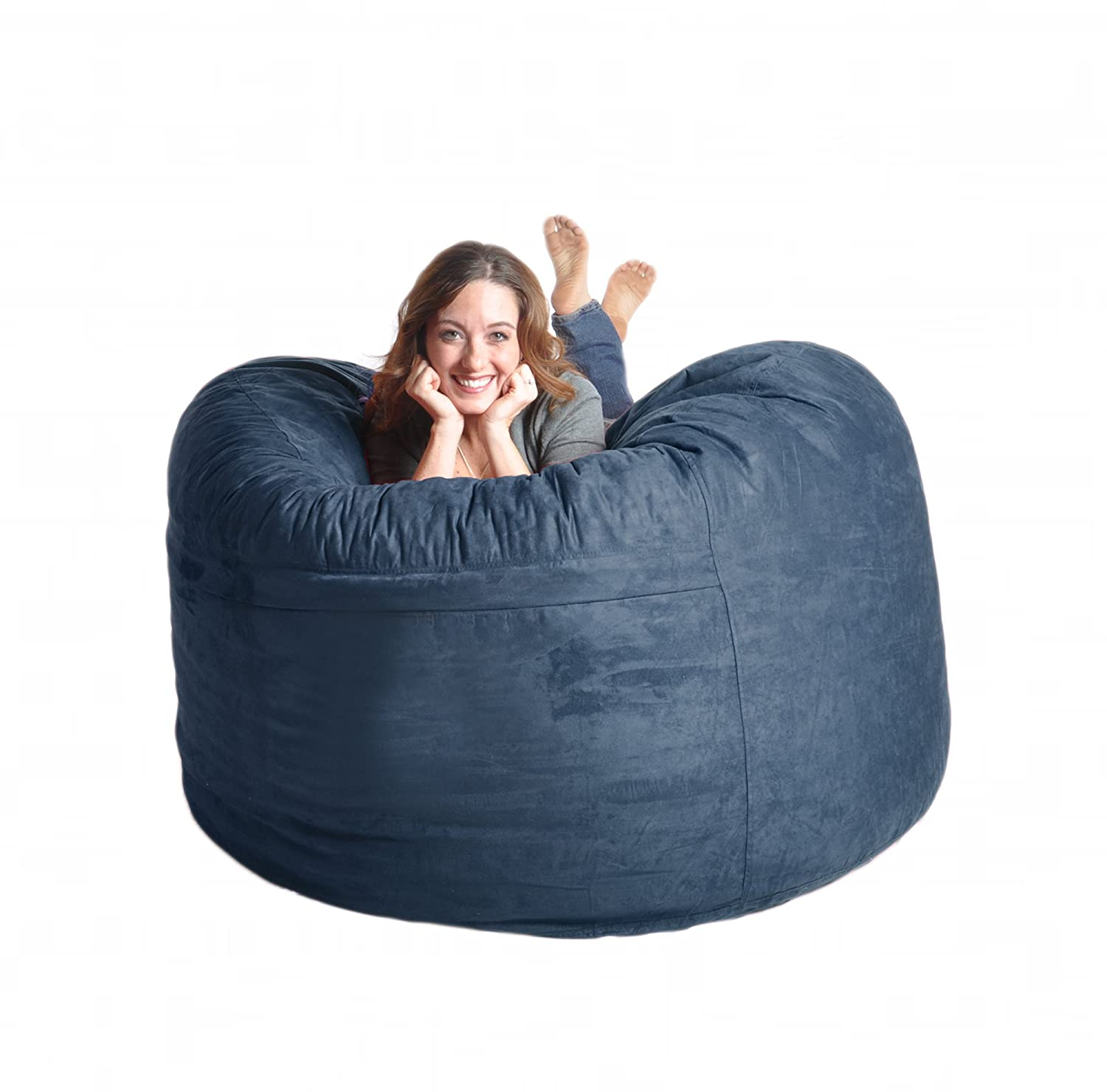 Giant bean bag chairs for adults - Amazon Com Slacker Sack 5 Feet Foam Microsuede Beanbag Chair Large Black Kitchen Dining