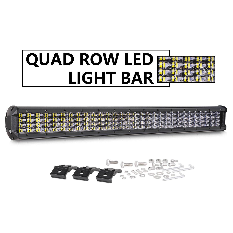 Quad Row Wiring Diagram Library Amazoncom Led Light Bar Dji 4x4 30 Inch 360w