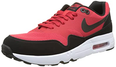 new product 9aaca 1e1ac Image Unavailable. Image not available for. Color  Nike Men s Air Max 1  Ultra 2.0 Essential University Red Black White Running Shoe 9.5