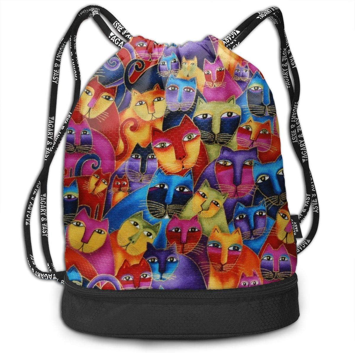 Gato Libre Cinch Backpack Sackpack Tote Sack Lightweight Waterproof Large Storage Drawstring Bag For Men /& Women