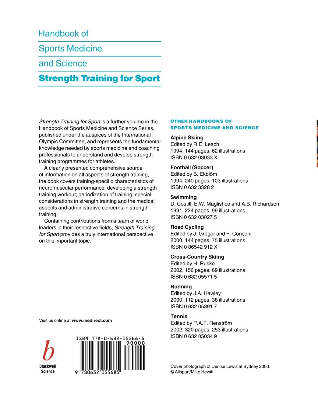 Handbook of Sports Medicine and Science: Strength Training for Sport