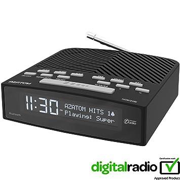 Azatom Horizon FM Radio Reloj Despertador Digital Dab Horizon de AZATOM – Bluetooth – A Pilas