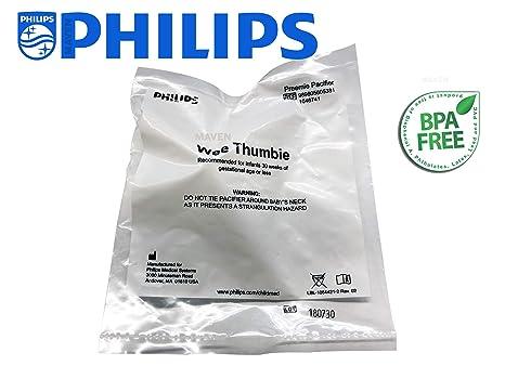 Wee Thumbie - Philips Aqua Preemie Pacifier, Gestational Age Less than 30 weeks, Hospital Binky