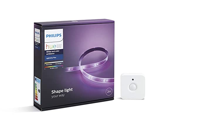 Philips Hue White and Color Ambiance - Lightstrip Plus, tira LED de 2 metros con