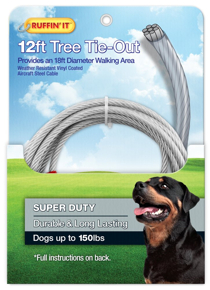 Ruffin' It Tree Tie Out, 4200-Pound, Strength Up to 18-Feet