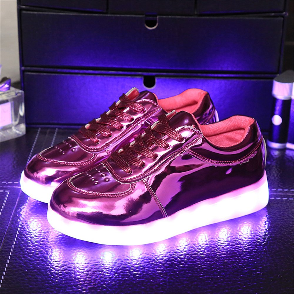 xiaoyang USB Charging LED Light Up Fashion Sports Flashing Sneaker Shoes for Kids Boys Girls