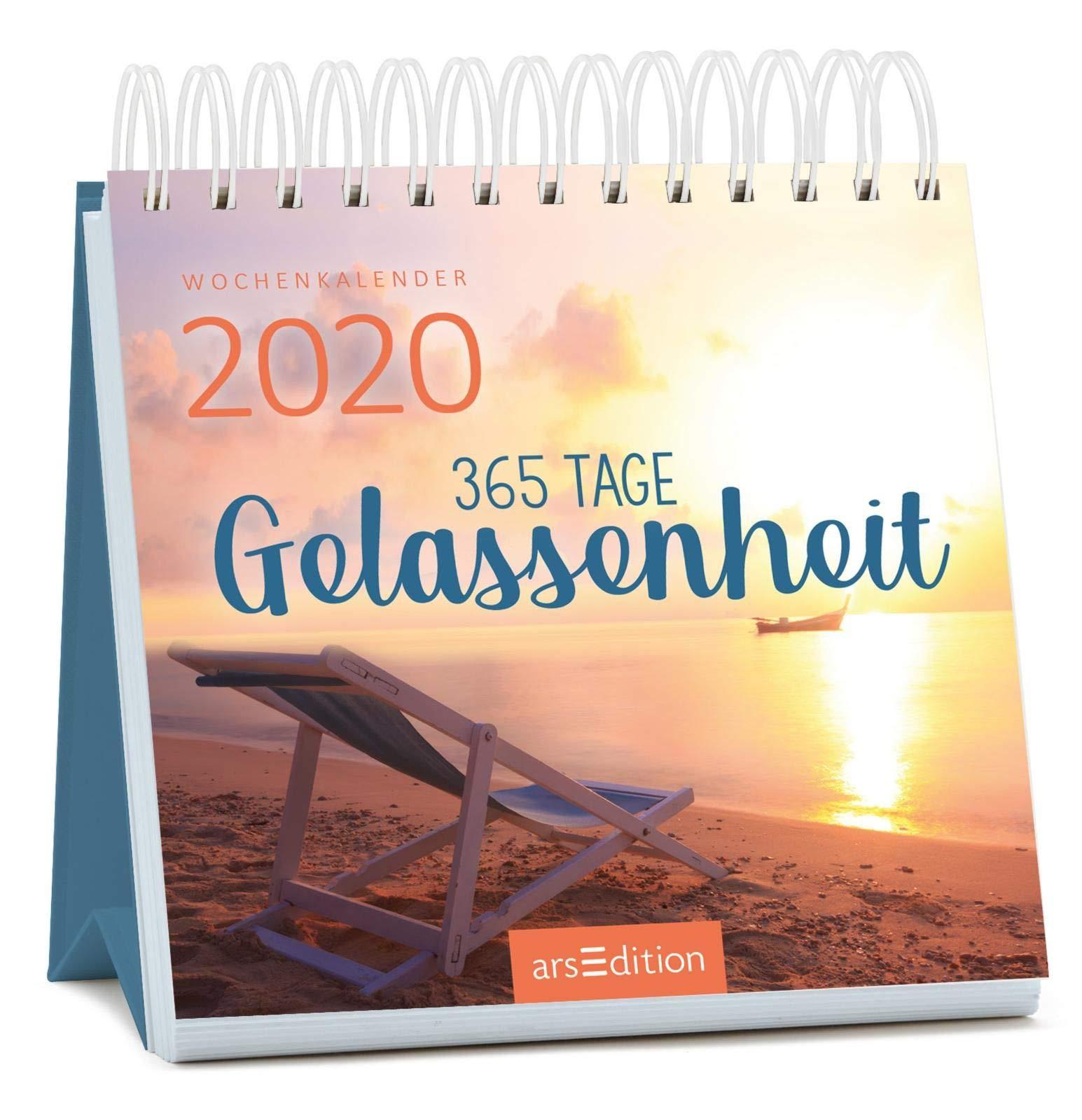 Miniwochenkalender 365 Tage Gelassenheit 2020   Kleiner Aufstellkalender Mit Wochenkalendarium  Kleiner Kalender Für Mehr Ruhe Achtsamkeit Und Gelassenheit