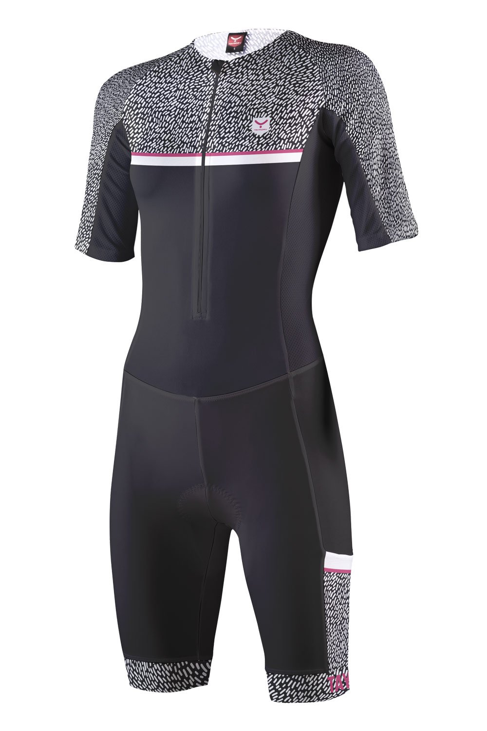 TAYMORY Feuer Top Long Distance, Damen Damen L Schwarz T60.5-SHOP (FEUER) 2 BACK POCKETS