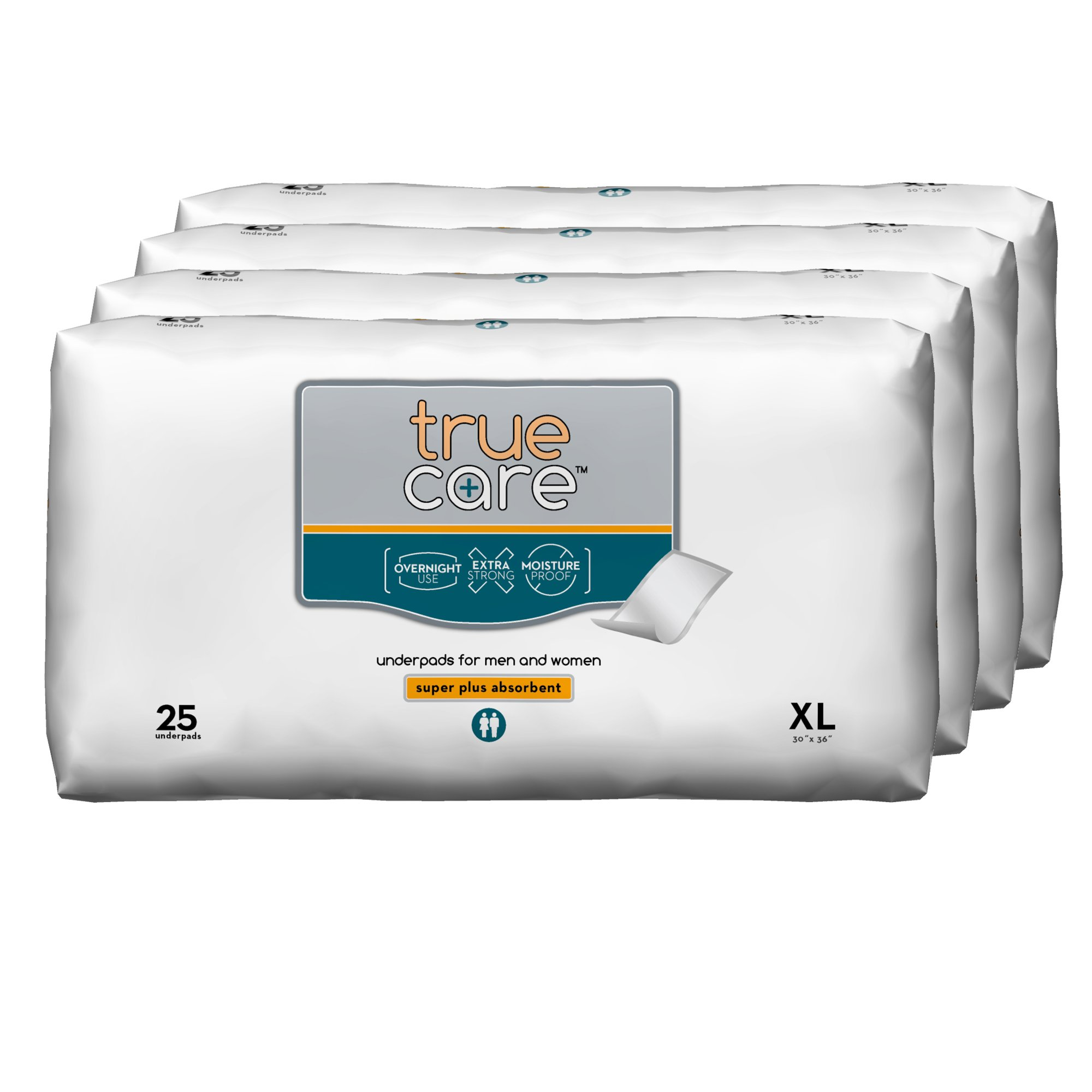 True Care Super Absorbent Incontinence Underpads, Extra Large, 30 by 36 Inches, 100 Count