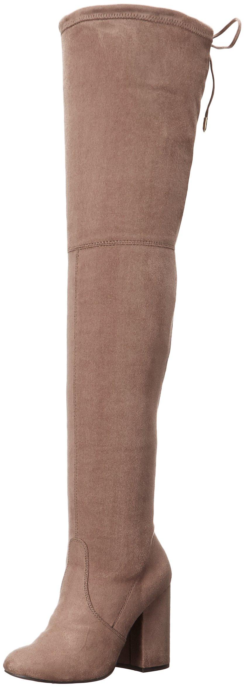 Steve Madden Women's Norri Harness Boot, Taupe, 6.5 M US