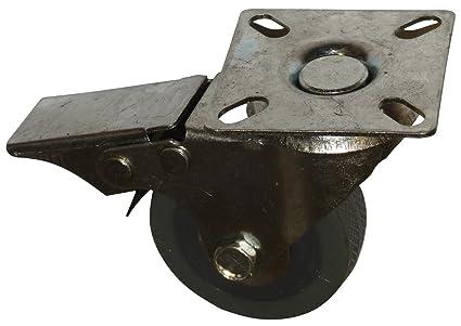 AERZETIX: Ruedas para muebles industrial pivotantes con freno de la rueda. Diametro 5cm