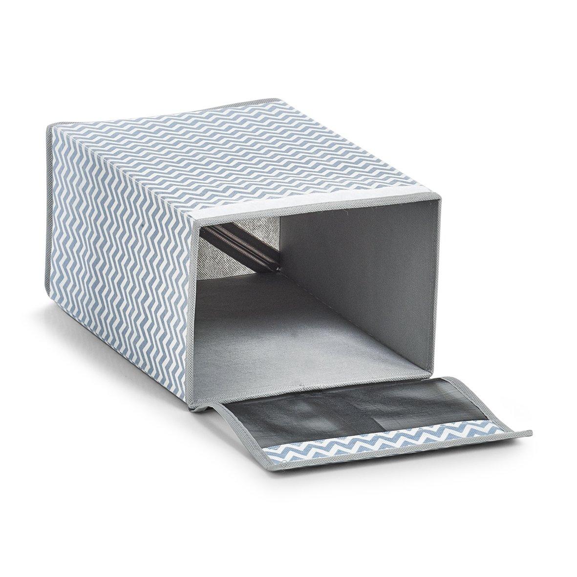 Zeller 14626 Schuhbox ca Vlies wei/ß//grau 22 x 34 x 16 cm