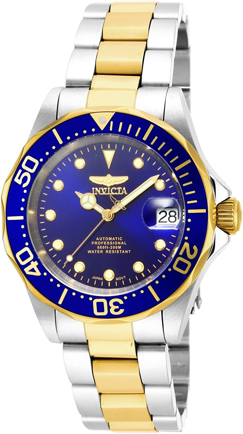 Invicta Men s 17042 Pro Diver Analog Display Japanese Automatic Two Tone Watch