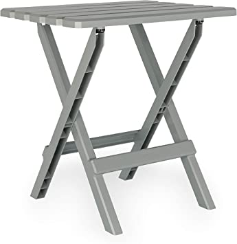 Camco Adirondack Portable Outdoor Folding Side Table Picnics Mocha Camping 51882 Cookouts and More Perfect For The Beach Weatherproof and Rust Resistant