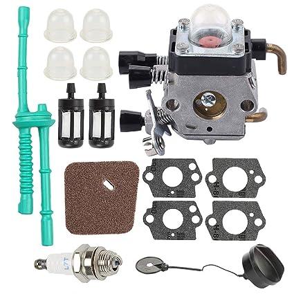 Butom FS55R FS38 Carburetor for STIHL FS45 FS46 FS55 KM55 HL45 FS45L FS45C FS46C FS55C FS55RC String Trimmer Weed Eater C1Q-S97 C1Q-S186 with Air ...
