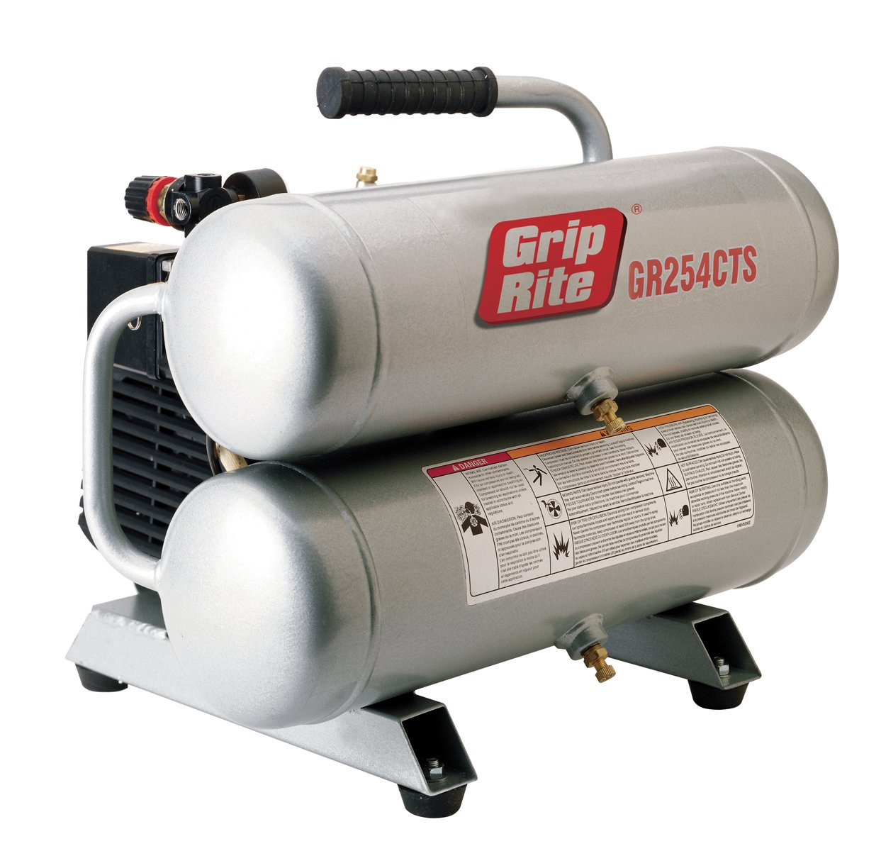 Grip-Rite GR254CTS 2HP 4 Gallon Twin Stack Compressor
