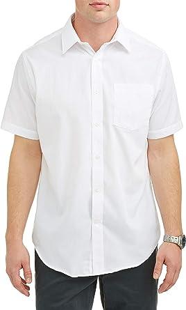 NEW GEORGE SHIRT LONG SLEEVE DRESS CLASSIC FIT STRETCH COLLAR BLACK MENS 3XL BIG