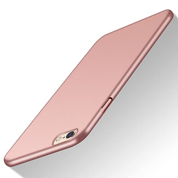 outlet store ed339 6cbba iPhone 6S Plus Case, TORRAS Slim Fit Shell Hard Plastic Full Protective  Anti-Scratch Resistant Cover Case for iPhone 6 Plus/iPhone 6S Plus- Rose  Gold