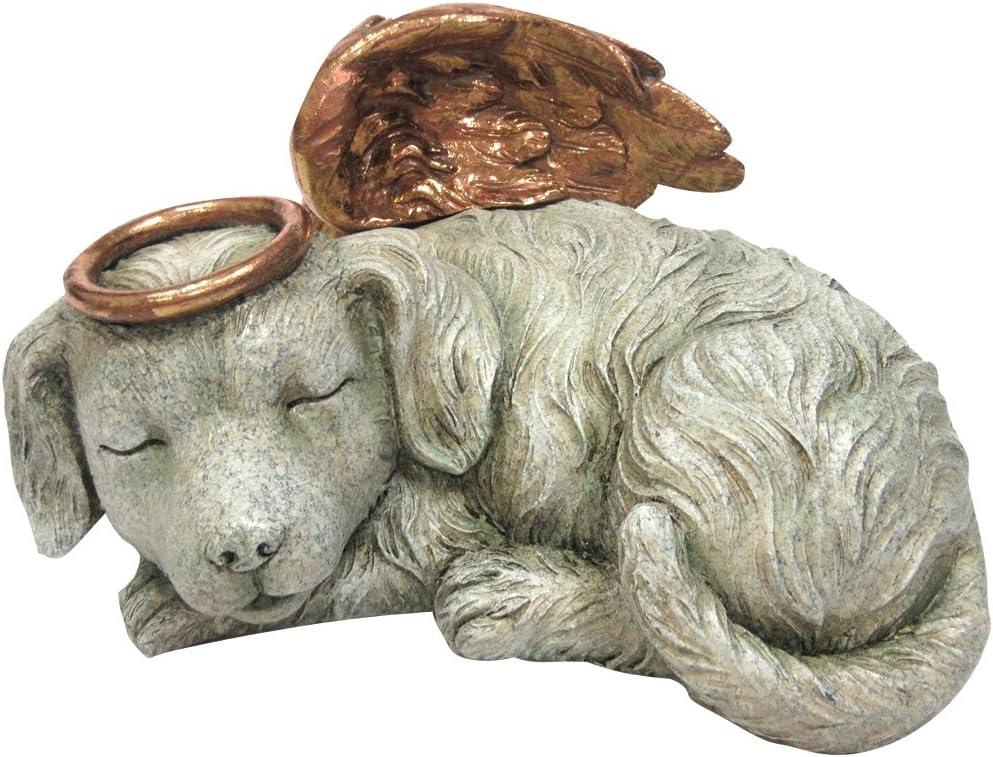 Urna de cremación de perro de ángel memorial para mascotas, con carga inferior de 76,2 cm