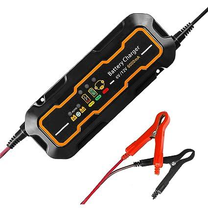 Cargador de batería, 12 V/6 V 5 A cargador de batería de ...