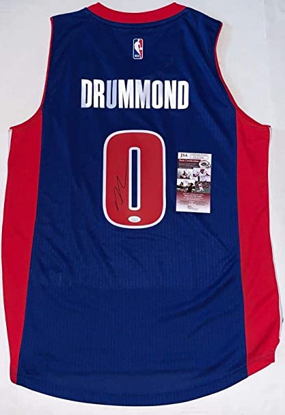 f916ce14086f Autographed Andre Drummond Jersey - Official Adidas Swingman - JSA Certified  - Autographed NBA Jerseys