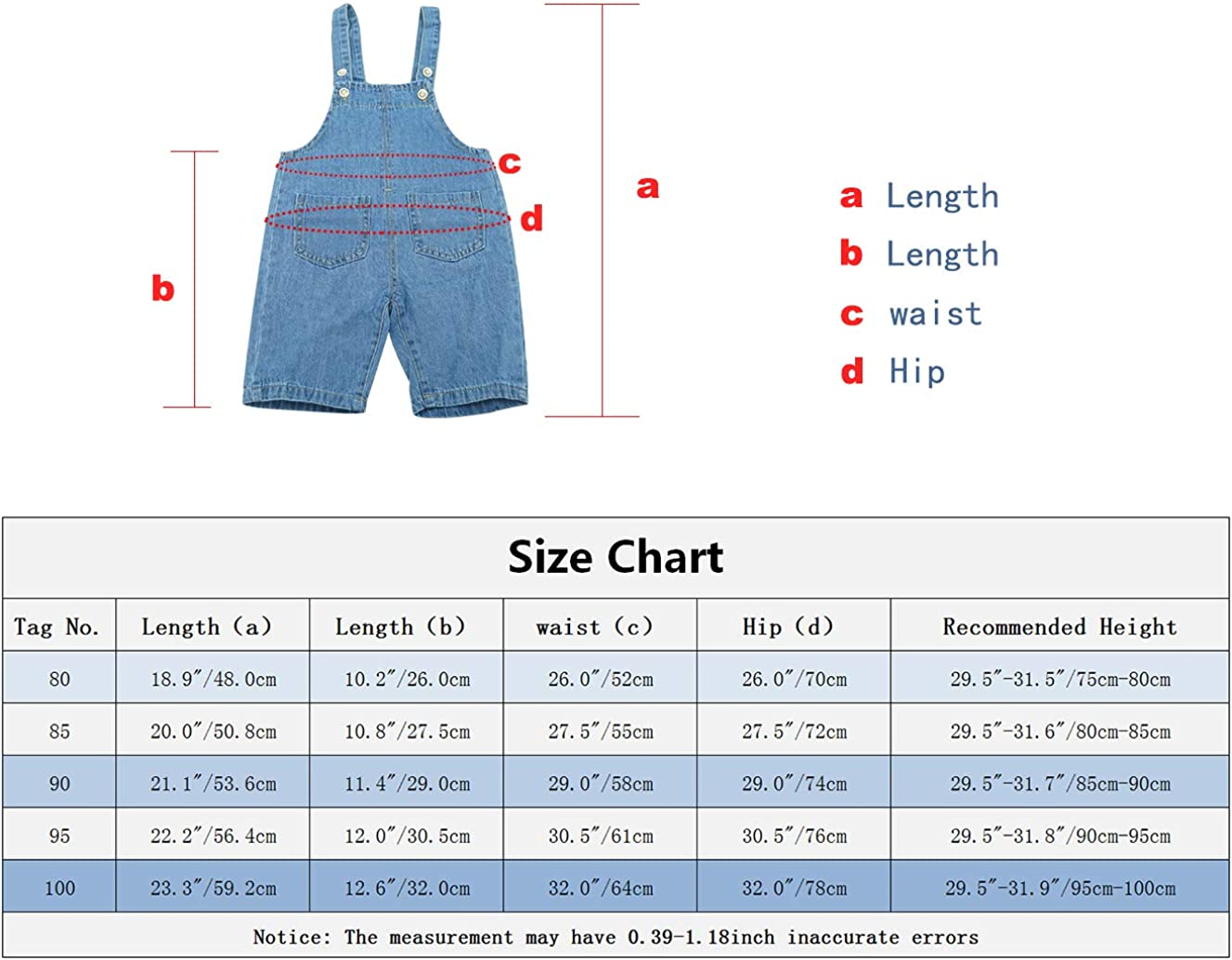 FEOYA Salopette Jeans Corta Bimbo Bambina Abbigliamento Bambino Tuta Bermuda Ragazze Ragazzi Pantaloni Bretelle