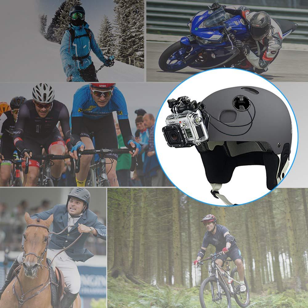 Braccio Girevole da 360 Gradi Estensibile Perfetto per GoPro Hero 7 6 5 4 3 woleyi Casco Supporto per Superficie Curvo per Action Camera