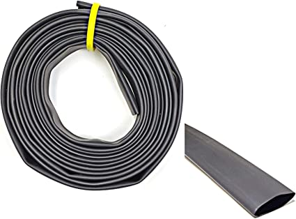 """2 Pack 3//8/"""" Heat Shrink Tube 3 1 Adhesive Lined Shrinkable Tubing Blac 3//8 Inch"""