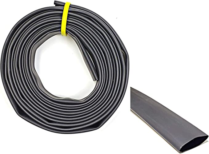8-130mm 2:1 Heat Shrink Boot End Cable Caps Adhesive Glue Lined Waterproof Black