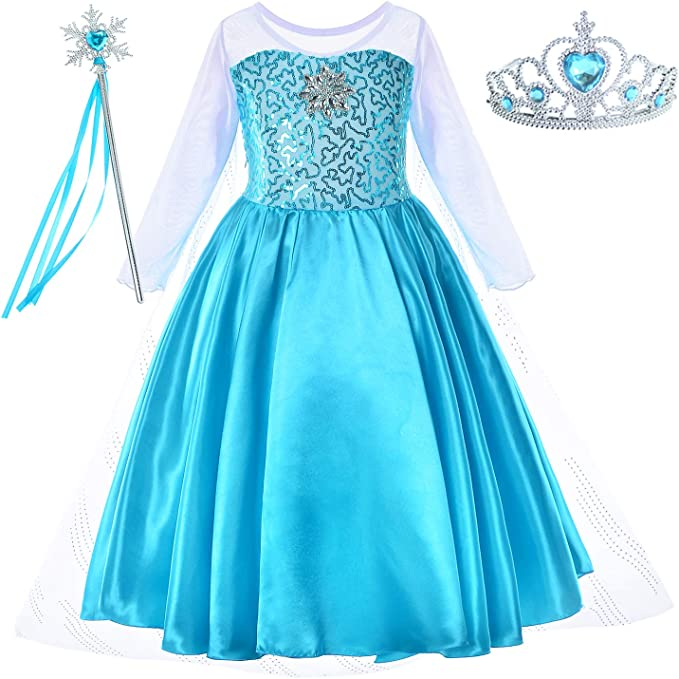 Amazon.com: Disfraz de princesa Elsa con accesorios para ...