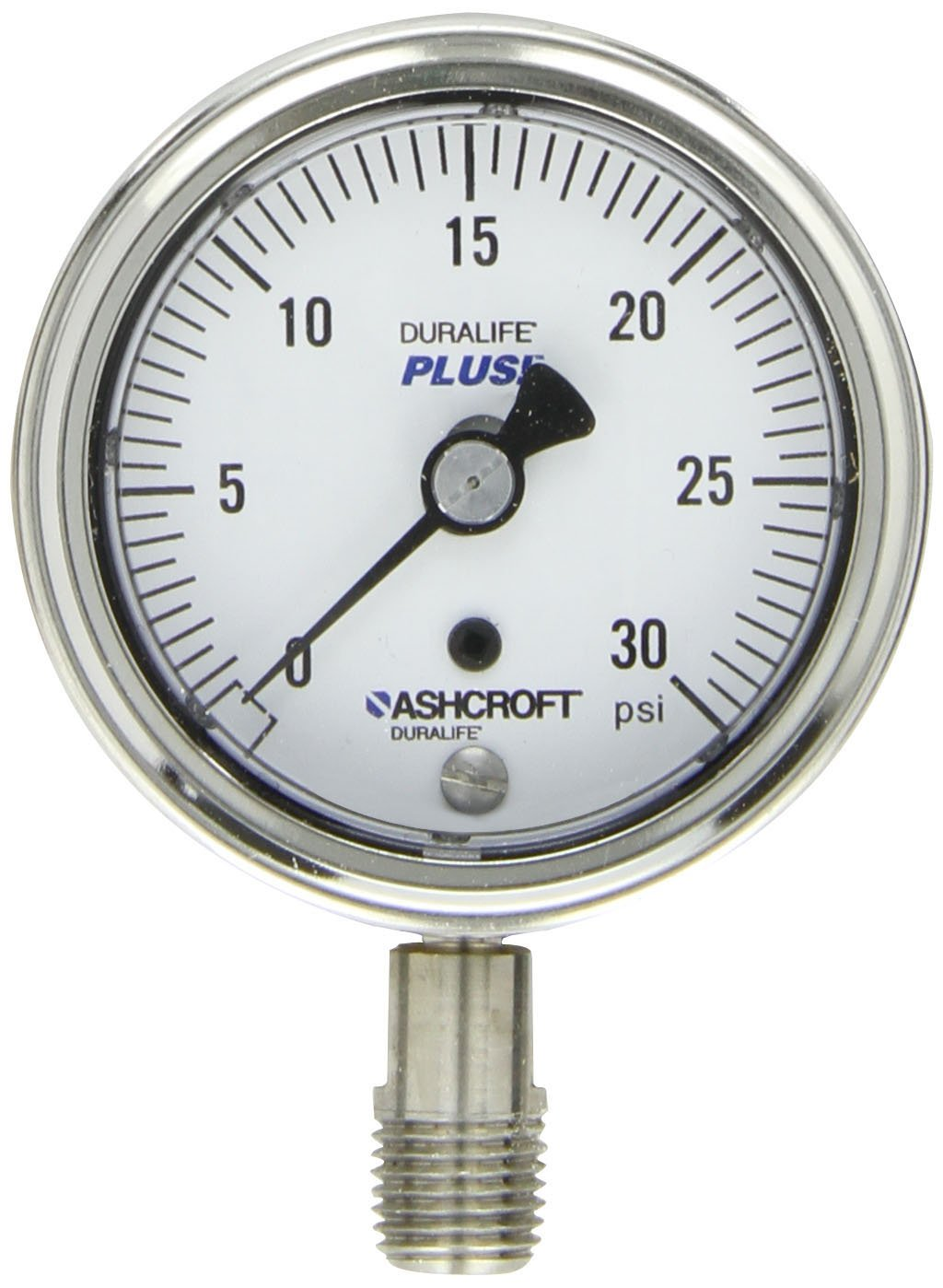 Ashcroft 25-1009-AW-02L-200#-XLJ Duralife Pressure Gauge 1//4in Npt 0-200psi