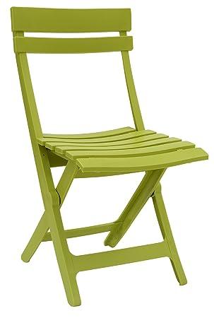 Grosfillex Miami Chaise Pliante Vert Cactus 50 X 42 X 80 Cm