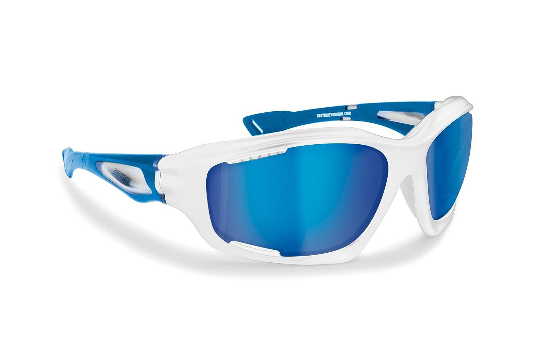 BERTONI Polarisierten Windschutz Sport Sonnenbrillen mit Hydrophobe Gläser für Radfahren Skifahren Laufen Wassersport Kitesurf - P1000 Sportbrillen