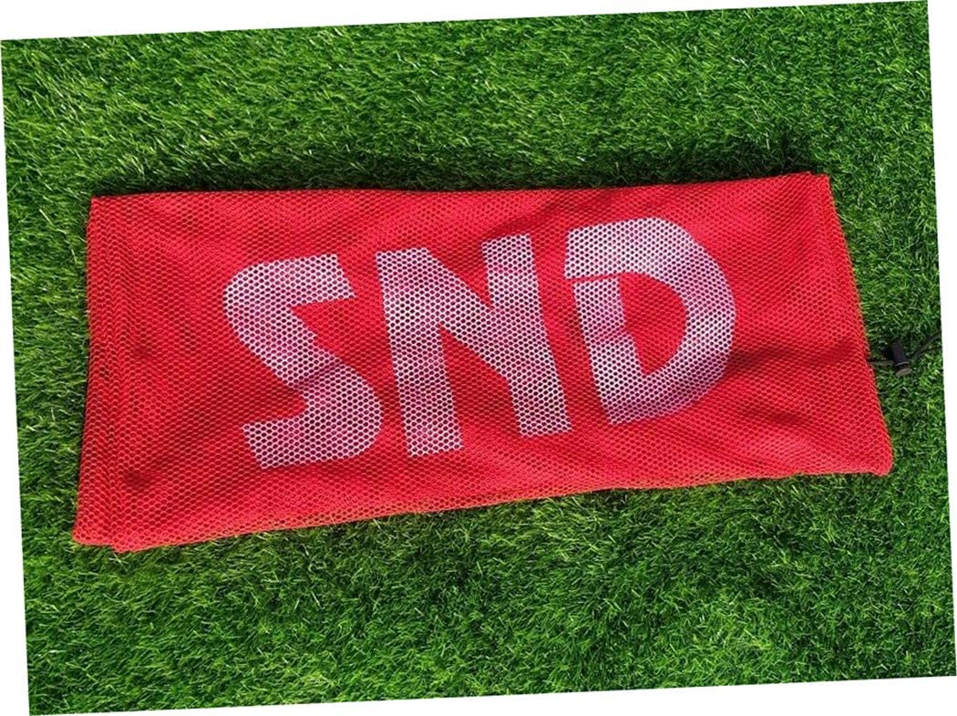 Netball ND 9 Ball Black Mesh Net Carry Football Rugby Balls Bag