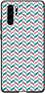 Okteq Case Cover for Huawei P30 Pro Shock Absorbing PC TPU Full Body Drop Protection Cover matte printed - blue pink pattern By Okteq