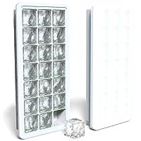 MAIGG Ice Cube Tablett mit wasserdicht Deckel - PREMIUM Silikon mold- BPA-frei/FDA genehmigt Ice Cube, Seife, Muffin, Pudding, Babynahrung Gefrierschrank Speicherung und mehr - stapelbar, kein überschwappen, platzsparend - Multifunktionale Küche Gadgets(Weiß).