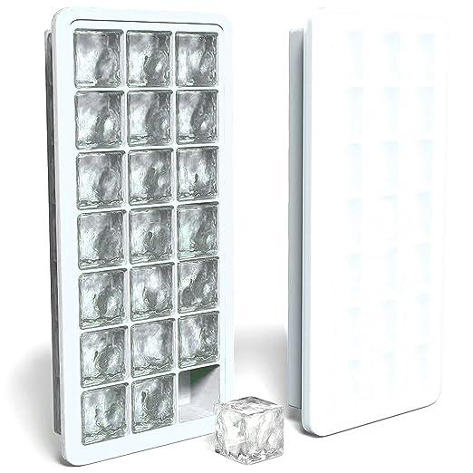 2 opinioni per Vassoi del cubo di ghiaccio del silicone Con coperchi di tenuta- Stampi per