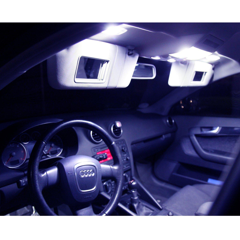 Innenbeleuchtung Set für dein Fahrzeug - 5730 SMD sehr hell - Lichtpaket erhältlich in Farben weiß blau rot grün gelb pink | blau Bibaku