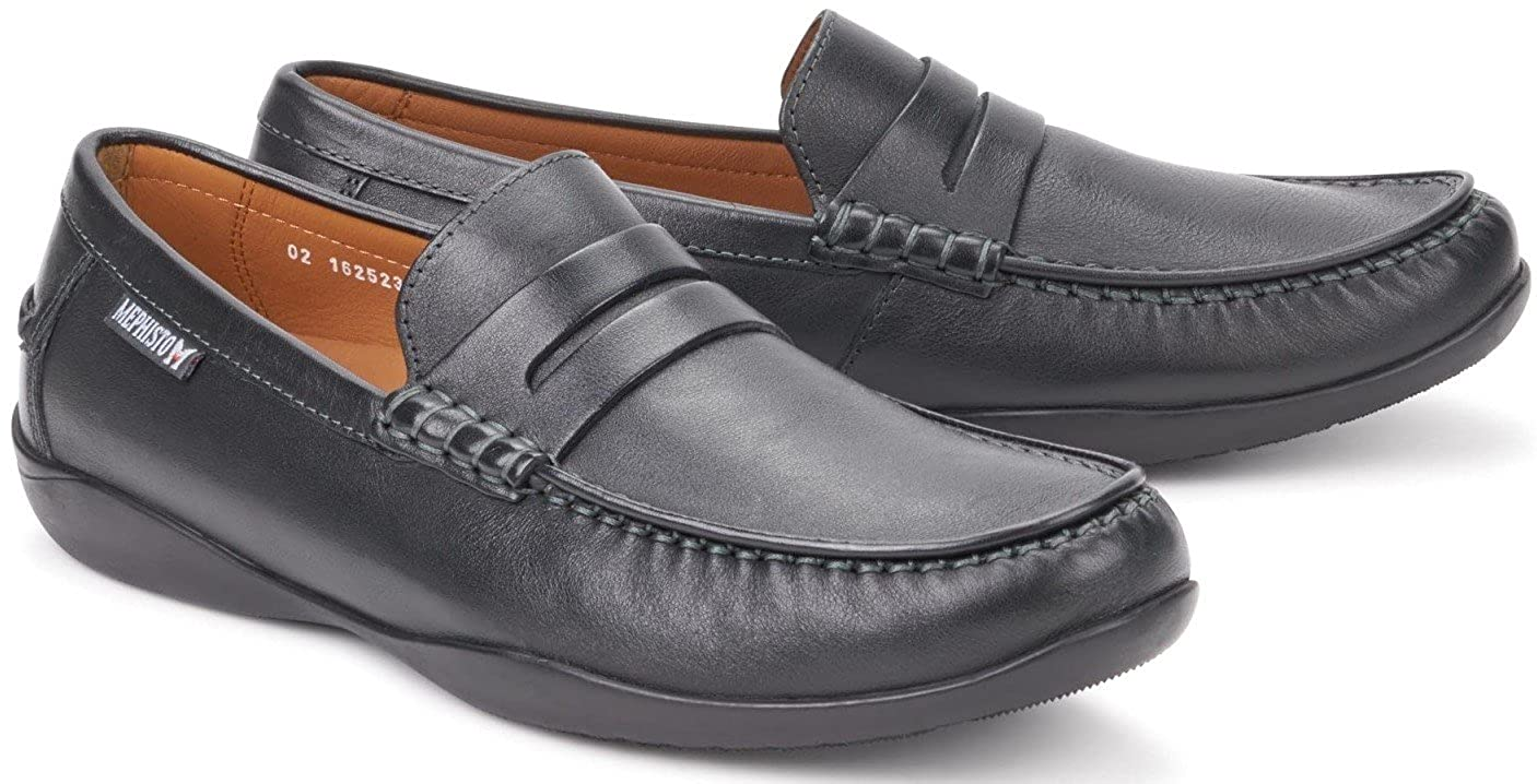 5a899e93be1 Mephisto IGOR Black Leather Men s Loafers (11 UK)  Amazon.co.uk  Shoes    Bags