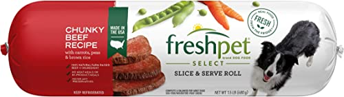 Freshpet Healthy Natural Dog Food, Fresh Beef Roll, 1.5lb
