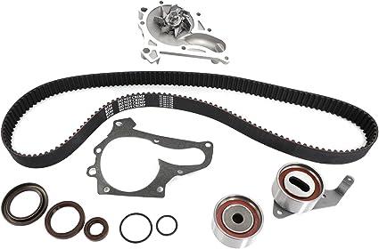tckwp199 Kit de Correa de distribución y bomba de agua con correa de distribución rodamientos para Toyota Camry Celica RAV4 Solara 2.0L 2.2L L4: Amazon.es: Coche y moto