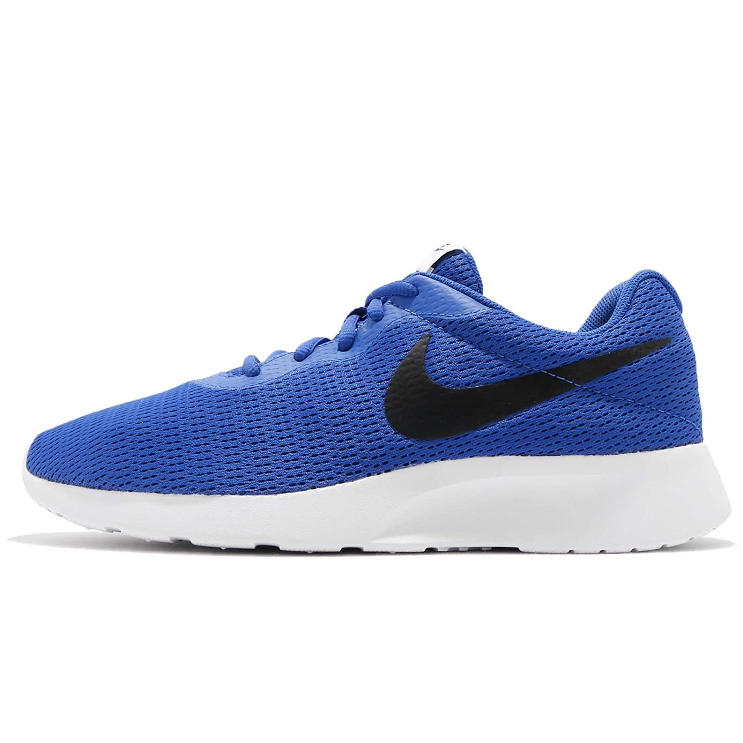 NIKE Men's Tanjun Sneakers, Breathable Textile Uppers and Comfortable Lightweight Cushioning B072P66ZLG 7.5  M US Game Royal/Black-white