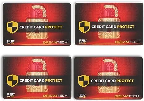 Prot/égez Vos informations financi/ères avec Un Dispositif d/'Apparence Carte de Blocage RFID DreamTECH 2 x Carte la s/écurit/é antivol Ultime pour Votre Carte de cr/édit//d/ébit//d/'identit/é