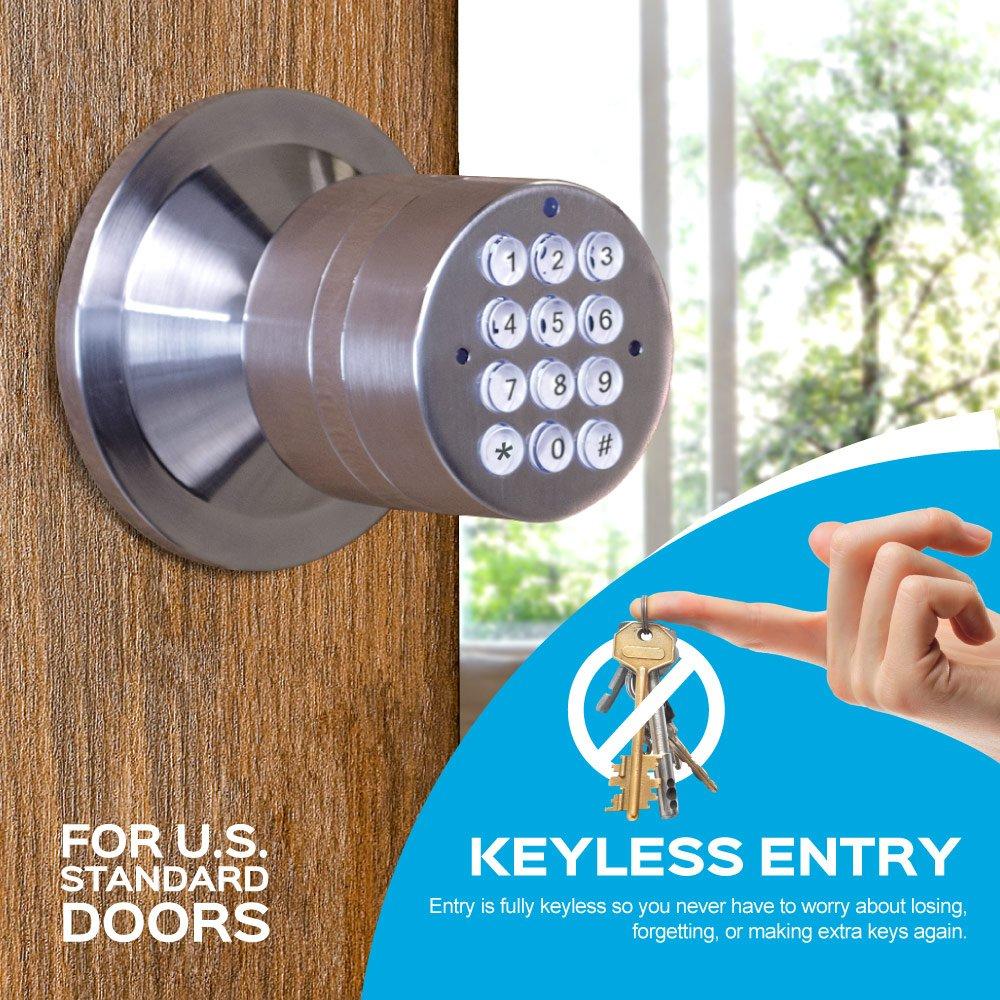 Advanced Security Turbolock Keypad Keyless Smart Lock With Door Electronic Key Combination Circuits Automatic Locking Battery Backup Easy Installation No Bluetooth Polished Brass