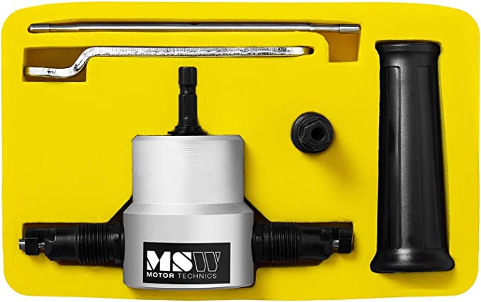 MSW Cortador De Chapa Con Doble Cabezal Cortadora Para Taladradora MSW-DRNB2 Metal y pl/ástico, 2 cabezales de corte, Corte hasta 2 mm, 360/°