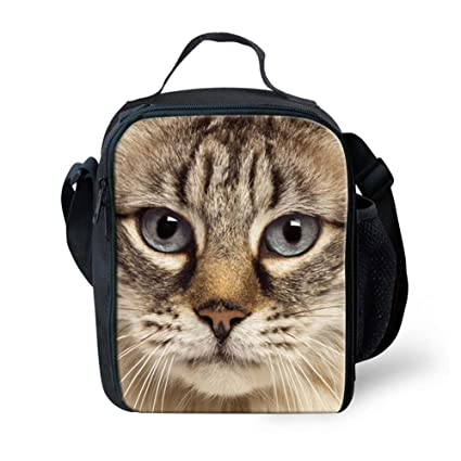 75f7ffb10522 Image Unavailable. Image not available for. Color  Coloranimal 3D Animal Cat  Printed Women Picnic Kids School Lunch Bags