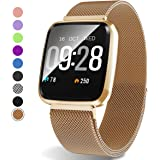 Amazon.com : Womens Smart Watch, Blue-Tooth 1.04inch ...