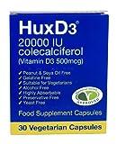 HuxD3 20,000IU Colecalciferol (Vitamin D3 500mcg) 30 Capsules